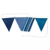 Guirlande de fanions - 2 m - Bleu camaïeu