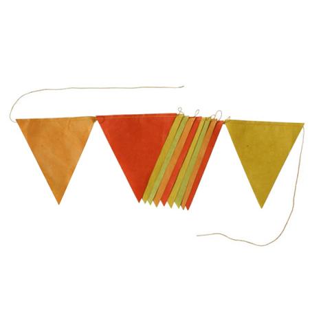 guirlande de fanions 2 m jaune camaeu - Decoration Chambre Camaieu Orange