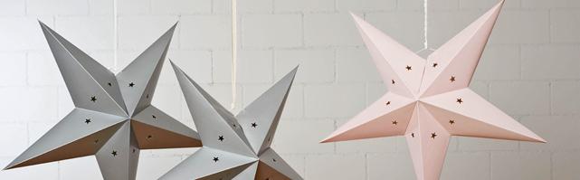 Lanternes étoiles - 60 cm