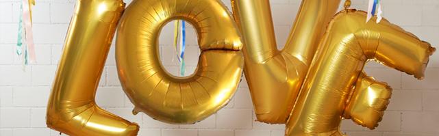 Ballons géants  L.O.V.E