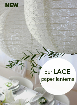 New eyelet paper lanterns with a lace design