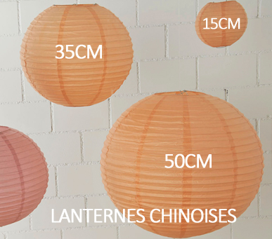 Lanternes chinoises tailles