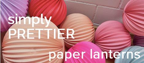 designer paper lanterns for weddings and home décor