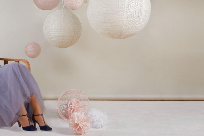 Boho decor wedding paper lanterns
