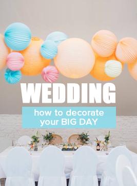 Wedding paper lanterns in pretty colors