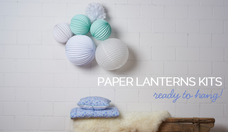 our ready-to-hang paper lanterns sets
