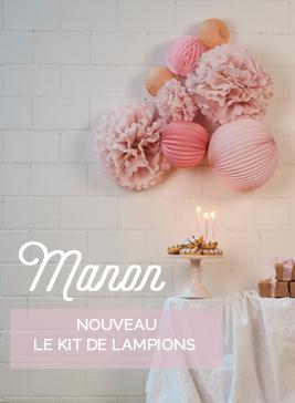 Kit de lampions pour décorer un anniversaire ou une chambre d'enfant