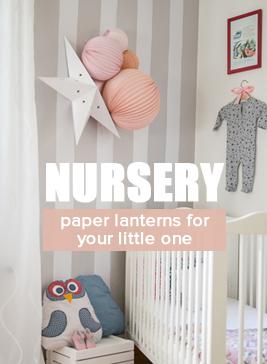 kids paper lanterns and nursery decor