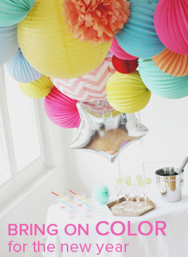 Bright colors party decor