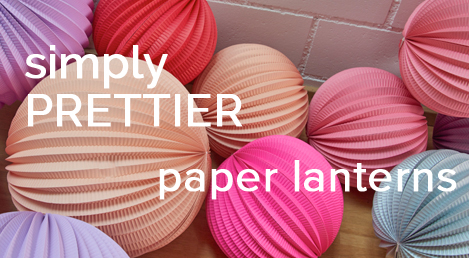 designer paper lanterns for weddings and home décor