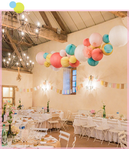 decorating your wedding with paper lanterns under the