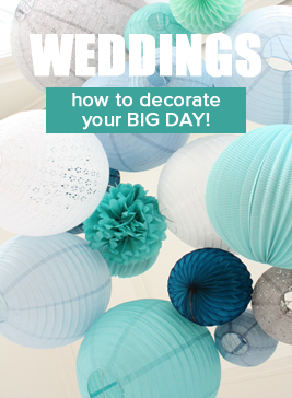 Wedding paper lanterns in pretty colors