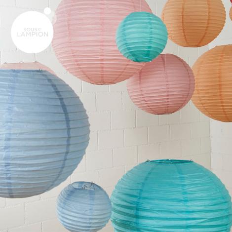 Lanterne chinoise - 35cm - Gris nuage