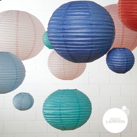 Lanternes chinoises différents coloris en tailles 15cm, 35cm et 50cm