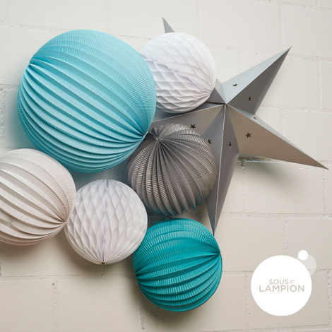 Lanterne étoile - 60 cm - Vert anisette