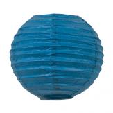 Lanterne baby Bleu santorini dans une composition de lampions