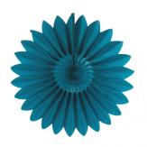 Rosace en papier - 45cm - Turquoise profond