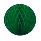 Boule papier alvéolé - 30 cm - Vert forêt