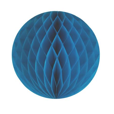 Boule papier alvéolé - 30 cm - Bleu aqua