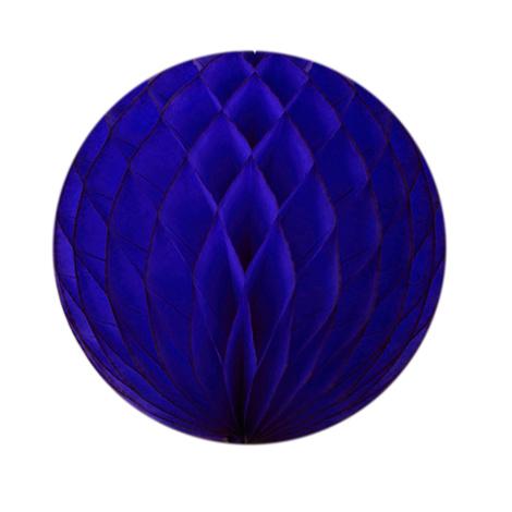 Boule papier alvéolé - 30 cm - Bleu océan