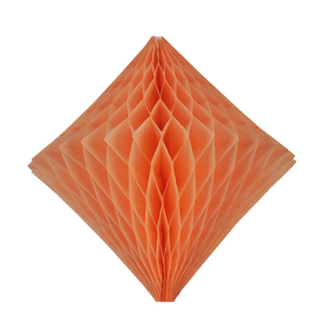 Honeycomb diamond - 30cm - Peach smoothie