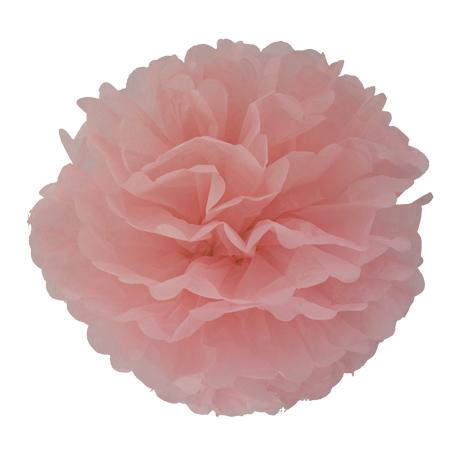 Pompon en papier - 40 cm - Rose sucre