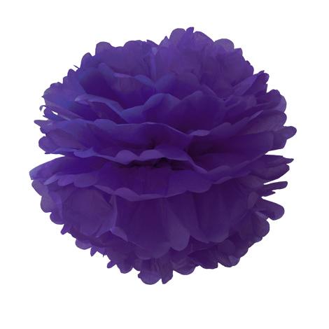 Pompon en papier - 40 cm - Violette en sucre