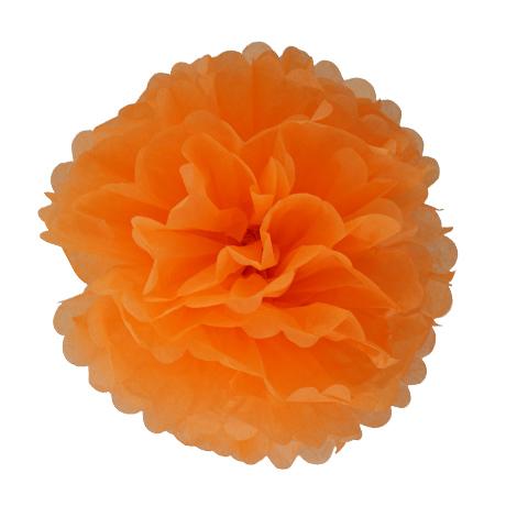Pompon en papier - 40 cm - Melon mûr