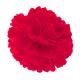 Pompon en papier - 40 cm - Rouge coquelicot