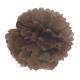 Pompon en papier - 40 cm - Marron glacé