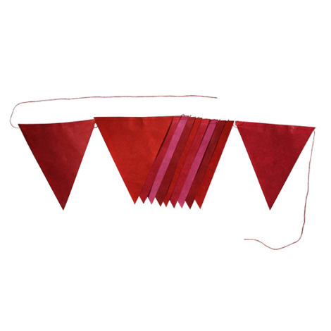 Flags garland - 2m - Red dream
