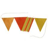 Guirlande de fanions - 2 m - Jaune camaïeu