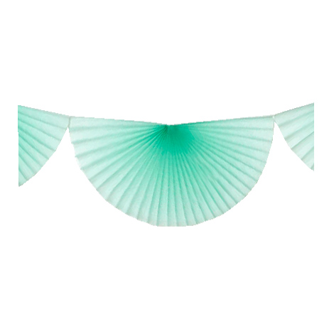 Tissue fans bunting - 3 m - Frosted mint
