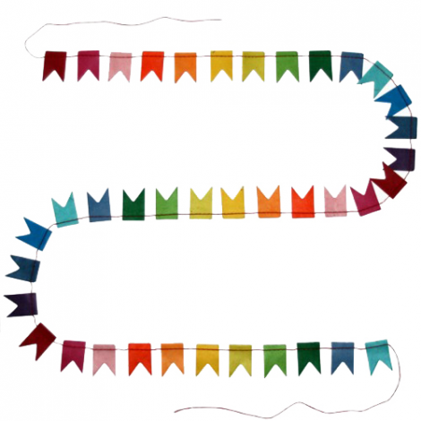 Happy Flags Garland - 1,5 m - Rainbow dream