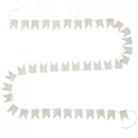 Happy Flags Garland - 1,5 m - Pure