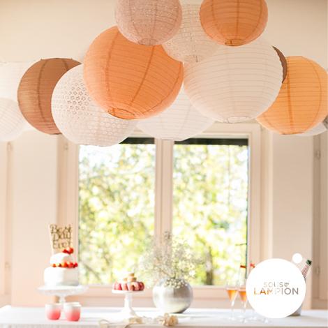 Paper lantern - 35cm - Rose blush