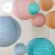 Lanterne chinoise - 35cm - Bleu pleine mer