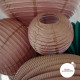Lanternes chinoises coloris poudre soleil