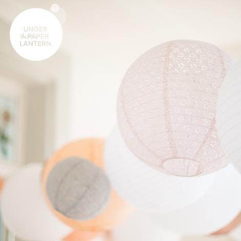 8'' Coral Lipstick Paper Lantern