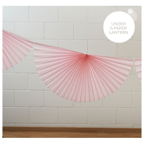 10' Super Pink Fan Garland