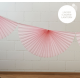 10' Super Pink Fan Garland