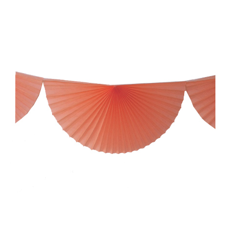Tissue fans bunting - 3 m - Peach smoothie