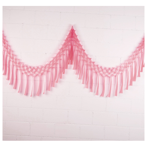 Streamer garland - 3,5m - Powder pink