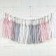 Pink tassel garland for a nursery or wedding decor