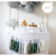 tassel garland for a sweet table decor