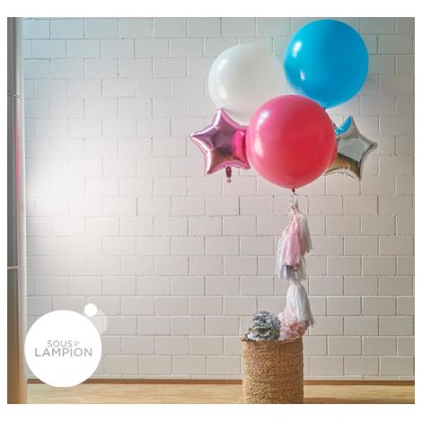Ballon géant et tassels frangées