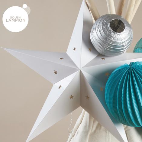 Star Lantern - 60 cm - White