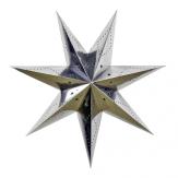 Lanterne étoile déco argentée