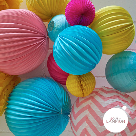 birthday paper lanterns