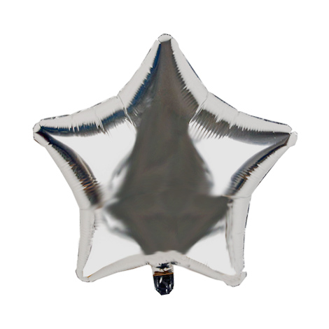 Silver star balloon